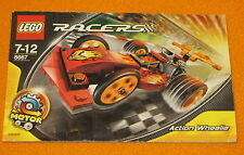 Lego Set 8667 INSTRUCTIONS ONLY Racers Action Wheelie Manual Book Motor Race Car