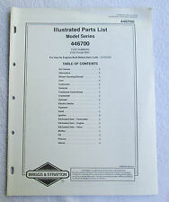 Briggs & Stratton Engines Illustrated Parts List Model Series 446700 USA Manual