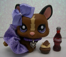 LITTLEST PET SHOP CUTE BROWN TAN CORGI #1767 SKIRT BOW CUPCAKE ACCESSORIES