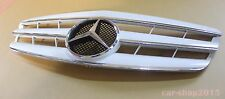 W221 07-09 Front Grille Mercedes Benz S-Class S550 S600 CL Style Chrome&White