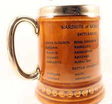 British UK Battleship Warships Of WWII Beer Mug Tankard Stein Royal Navy Ships
