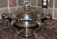 5 pc. Vintage Sheridan Silver Plate Chafing/Buffet/Warming/Serving Dish Claw