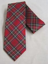 Vintage Mens Tie Tommy Hilfiger Red Green Plaid Pattern