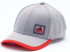 ADIDAS Fitted Baseball Cap Hat Color Clear Onix Vivid Red Size S/M Small Medium