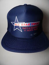 Vintage 1990s ALL STAR TRUCK PARTS EQUIPMENT Texas Advertising Hat  Snapback Cap