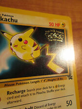 NM PIKACHU Pokemon PROMO Card #4 Rare Wizards Black Star Set Movie Release WB