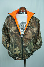 Winchester Reversible Waterproof Rain Jacket Large Camo Mossy Oak Blaze Orange
