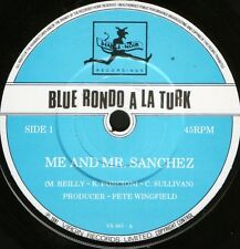 "BLUE RONDO A LA TURK me and mr sanchez/sarava VS 463 uk virgin 1981 7"" WS EX/"