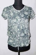 NEW! JUANA LADIES' OFFICE / SMART CASUAL TOP BLOUSE (GRAY/CREAM, SIZE MEDIUM)