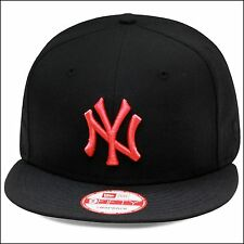 "New Era New York Yankees Snapback Hat ALL BLACK/Infrared ""NY"" For Air Max 90"