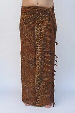 NEW EXTRA LARGE LONG UNISEX PREMIUM QUALITY DARK BROWN BEACH SARONG BNIP/saL521P