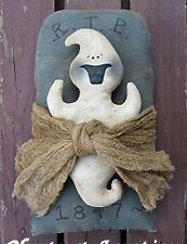 Primitive Pattern Happy Haunt'n A Happy Ghost with Tomb Stone LOOK ! #CJ