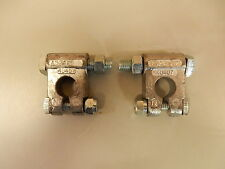 MILITARY BATTERY TERMINAL CABLE END CLAMP NEGATIVE LEAD A52425-2 LOT OF 2