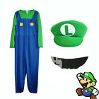 2015 UK Adult Mens Boys Super Mario and Luigi Bros Fancy Dress Costume Plumber