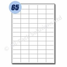 50 Sheets of Address Labels 65 per sheet 38 x 21 mm