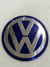 4 VW Wheel Center Hub cap Emblem Decal Jetta Golf MK4 Passat Sticker 90mm Blue