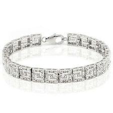 Lovely Bracelet With 1/2 ctw Genuine Diamond Platinum over 925 Sterling Silver