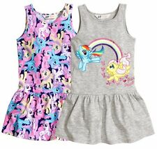 H&M Baby Toddler Girl My Little Pony Pattern Grey Tank Dress 2pc set 18-24 Month