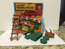 Smurf Garden Playset Rare Vintage Smurfs Toy Lot Set#1 No.6405 Complete With Box