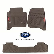14-17 GMC Sierra Front & Rear Premium All Weather Mat Pkg Cocoa w/ GMC Logo