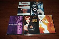 """5 RATED """"R"""" EROTIC FEATURE DVDS **HAUNTING DESIRES, SAPPHIRE GIRLS, SEE PIC"""