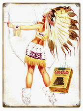 Old Gold Cigarettes Tobacco Advertisement Sign