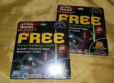Lot of 2 1999 Date Star Wars Episode 1 Topps Widevision Trading Cards