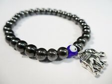 Hematite Magnetic Evil Eye Bead Protection Good Lucky Luck Bracelet Elephant #ed