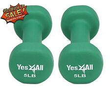 Yes4All Hand Exercise Neoprene Coated Pair Dumbbell Weight 5 lbs - ²DXD3C