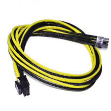 8pin CPU Yellow Black Sleeved PSU Cable EVGA Silverstone Coolermaster Seasonic