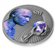 2016 ARTIFICIAL INTELLIGENCE-CODE OF THE FUTURE 2oz Silver Proof ON SALE!