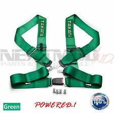 TAKATA© Style GREEN 4 POINT DRIFT III Seat Belt Racing Harness FIA 2020 Street