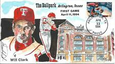 WILD HORSE HP TEXAS RANGERS WILL CLARK FIRST GAME AT THE BALLPARK Sc 2619