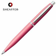 SHEAFFER VFM BLACK Refill Ballpoint Ball Pen Coral Pink & Nickel Barrel GIFT BOX