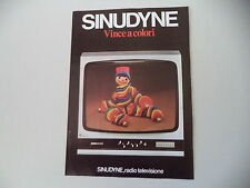 advertising Pubblicità 1976 RADIO TELEVISORE SINUDYNE