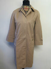 Genuine Burberry Prorsum Brown Cotton Raincoat Coat Mac Size UK 6 S Euro 34 S