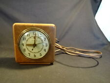 Old Vtg Wood General Electric Alarm Clock Made In America
