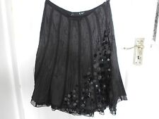 BLACK SEQUINED SKIRT BY GIVe BRAND NEW UK SIZE 10