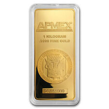 1 kilo Gold Bar - APMEX (In capsule) - SKU #80049
