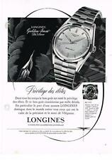 PUBLICITE ADVERTISING  1958  LONGINES  montre GOLDEN ARROW