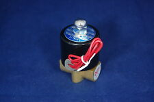 "1/4"" 2/2 Way  Electric Solenoid Valve 12V DC-Volt Air, Gas,Fuel brass body"