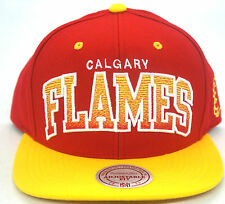 NHL Calgary Flames Mitchell and Ness Snapback Hat Vintage Cap Throwback M&N RARE