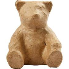 8cm Teddy Bear Animal Shape Craft Paper Mache Make Your Own Decoration Model Art