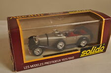 "B401 Solido ""Age d'Or"" #137 1:43 1928 Mercedes SS Torpedo - argent A+/a"