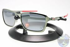 Oakley Tincan Sunglasses OO4082-09 Black Chrome |Black Iridium Polarized Ferrari