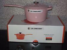 """Le Creuset Chiffon Pink 2-1/4 QT 2.25 Qt  7-1/4""""  Signature Saucepan Cast Iron"""