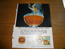 """1964 Knorr Onion Soup Vintage Magazine Ad """"This is the new Knorr Onion Soup"""""""