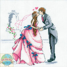Cross Stitch Kit ~ RTO Romantic Bride and Groom Wedding First Kiss #M165