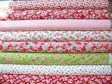 8 Fat Quarters of Bonnie & Camille's LITTLE RUBY Fabrics in Red & Pink ~ 2 yards