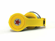 headphone stereo headset earphone yellow foldable for mp3 mp4 tablet iPad iPod